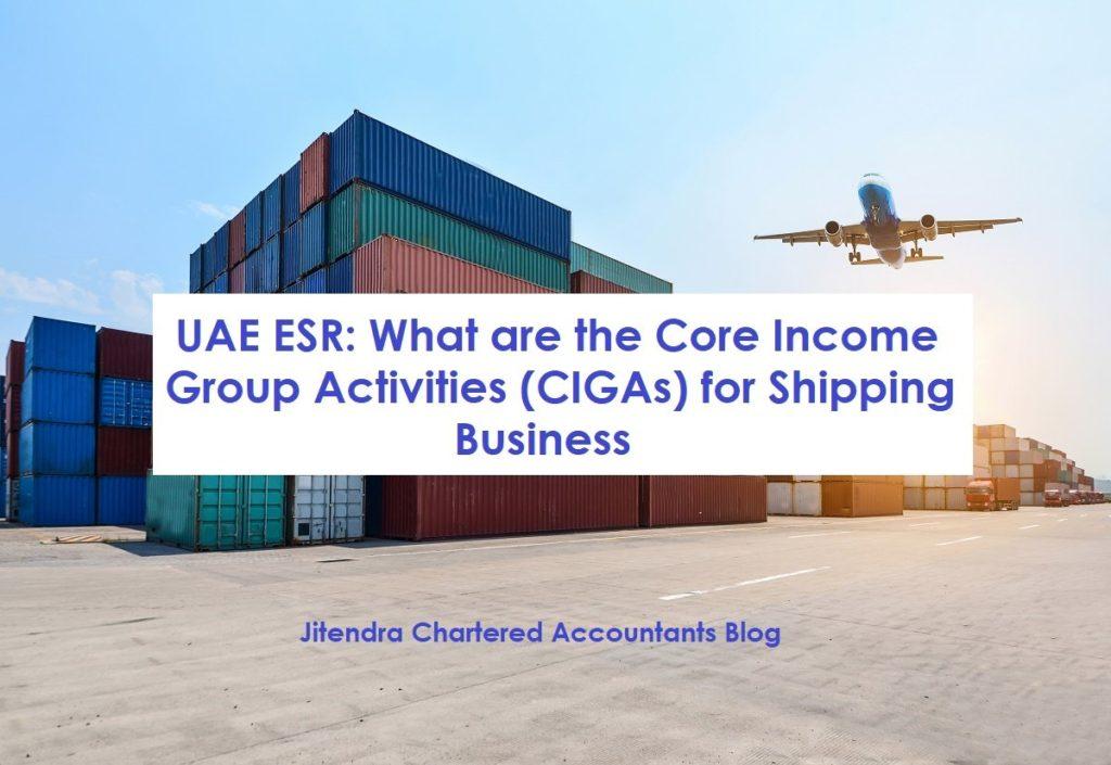 UAE ESR: CIGAs Performed in the UAE for Shipping Business